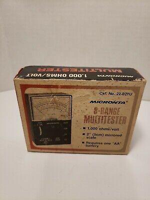 Vintage Radio Shack Micronta 22-027u 8-range Multitester 1000 Ohmsvolt
