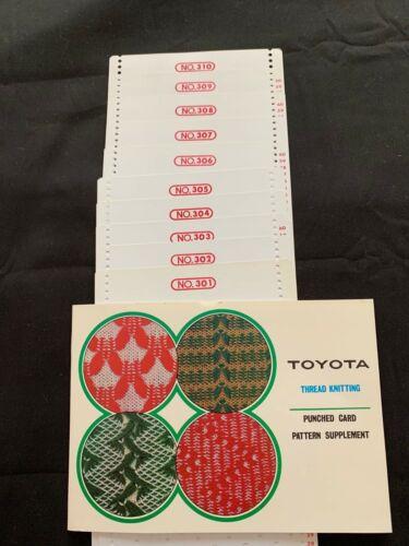 TOYOTA PUNCH CARD MACHINE 12 STITCH PUNCH CARDS 301-310 THREAD KNITTING K747