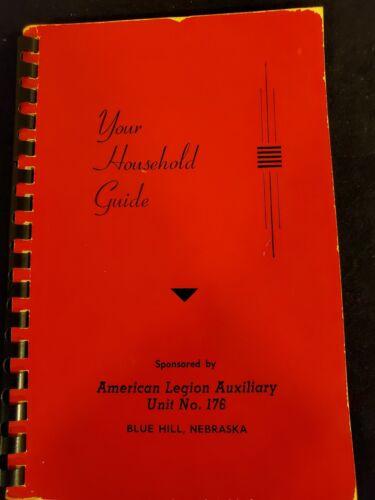Blue Hill Nebraska 1951 ANTIQUE AMERICAN LEGION #176 *YOUR HOUSEHOLD GUIDE BOOK*