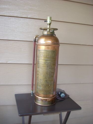 FIRE EXTINGUISHER LAMP (WESTFOAM)..... VINTAGE / ANTIQUE