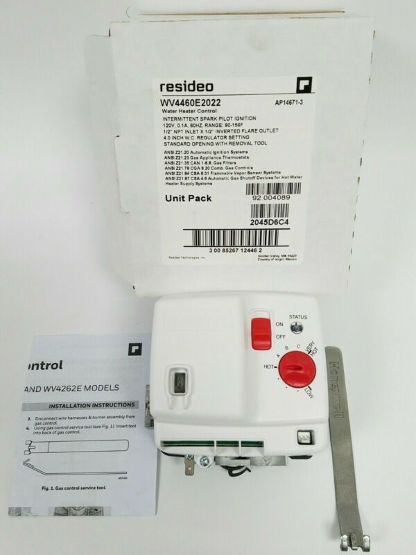 Resideo Water Heater Control Intermittent Spark Pilot Ignition WV4460E2022 New