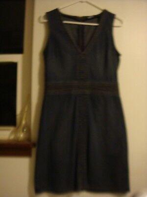 Denim Stretch Jumper (MODA International 10 Blue Jean Denim Stretch Bodycon Sexy Mini Jumper Dress)