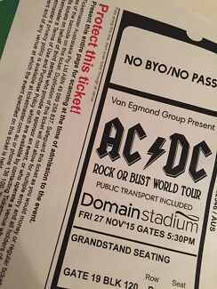ACDC Concert Tickets - Fri 27th Nov Salter Point South Perth Area Preview
