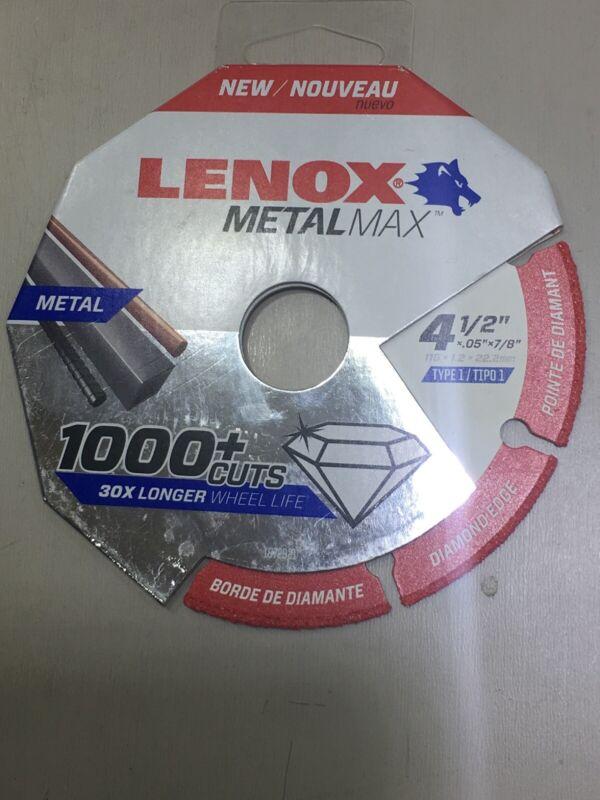 "LENOX 1972921 4-1/2"" x .05 x 7/8"" MetalMax Diamond Edge  Cutoff Wheel Metal Max"
