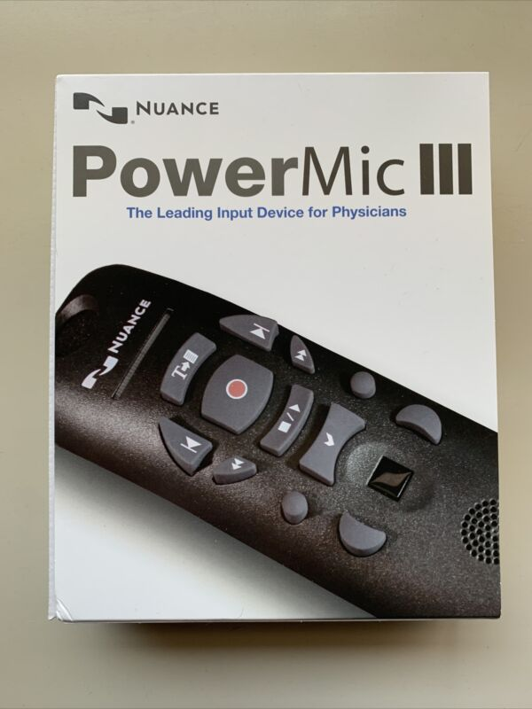 Nuance PowerMic 3 Handheld USB Dictation Microphone New In Box