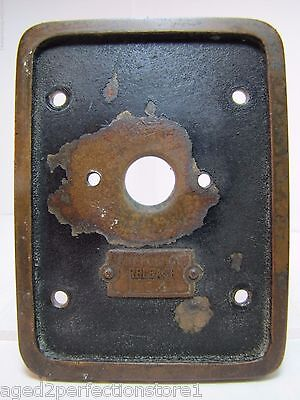 Old EMERGENCY RELEASE No 4 Mount Plate Architectural Industrial Button Switch