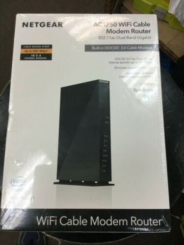 NETGEAR C6300-100NAS  WiFi Cable Modem Router Modem/Wireless DOCSIS Sealed
