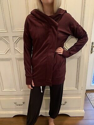 Lululemon Women's Savasana Wrap Jacket Sweater Cardigan Yoga Gym Merlot Size 6