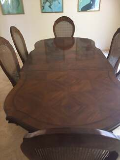 Dining Table and 6 Chairs Timber 2300 x 1050