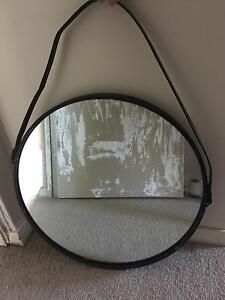 Round mirror with hanging strap Mosman Mosman Area Preview