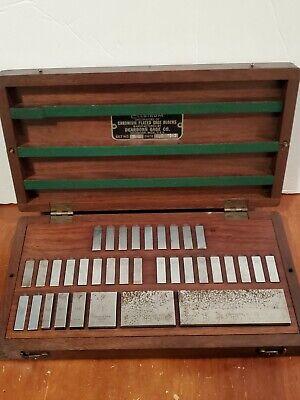 Vintage Ellstrom 35-w Chromium Plated Gage Blocks .1001 To 4.000 Dearborn 1943