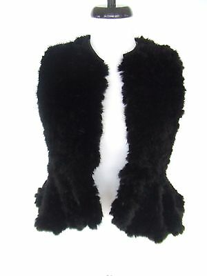 GIVENCHY BLACK JACKET MINK FUR VEST HAUTE COUTURE RUNWAY DRESS TOP $9K