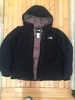 North Face Womans XL Down Coat Jacket Belt Missing