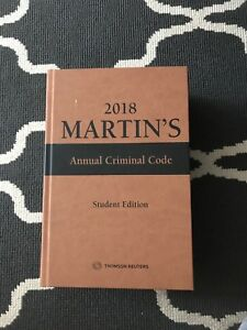 2018 Martins Annual Criminal Code