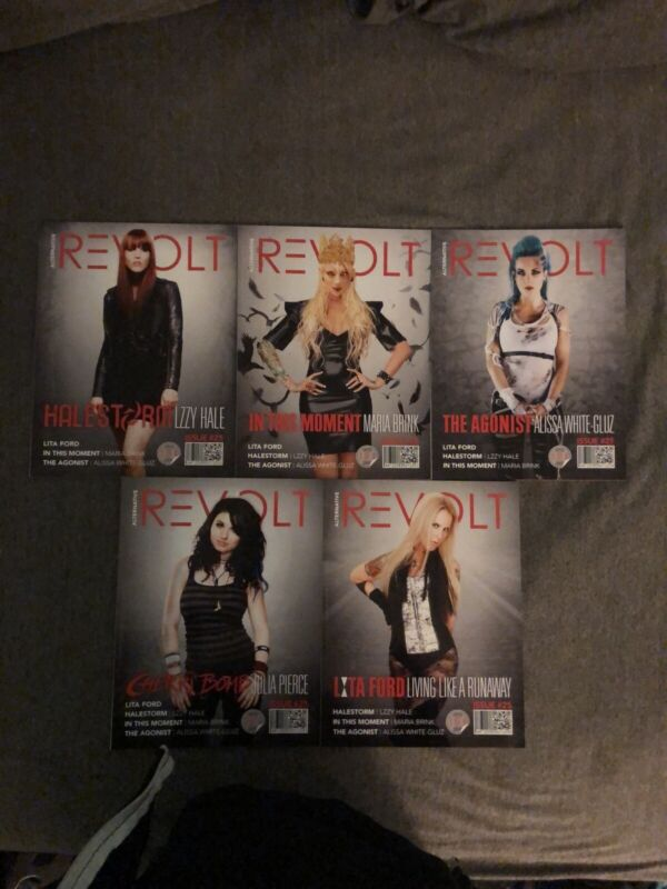 MARIA BRINK IN THIS MOMENT Revolt Magazine #25 All 5 Covers Lzzy Hale Halestorm