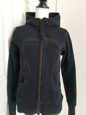 Lululemon Special Edition Women Full Zip Hoodie Sweater Jacket Black Size S