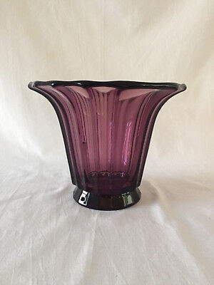 Antique Josef Hoffmann Moser approx 1915 Art Deco colored purple vase / vaas, gebruikt tweedehands  Nederland