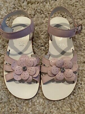 Spring Flowers By Gallucci Girls Pink Sandals Size 32 Italy High End Boutique