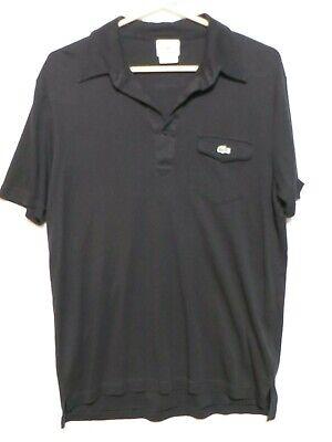 LACOSTE Men's black short sleeve polo shirt Size 4