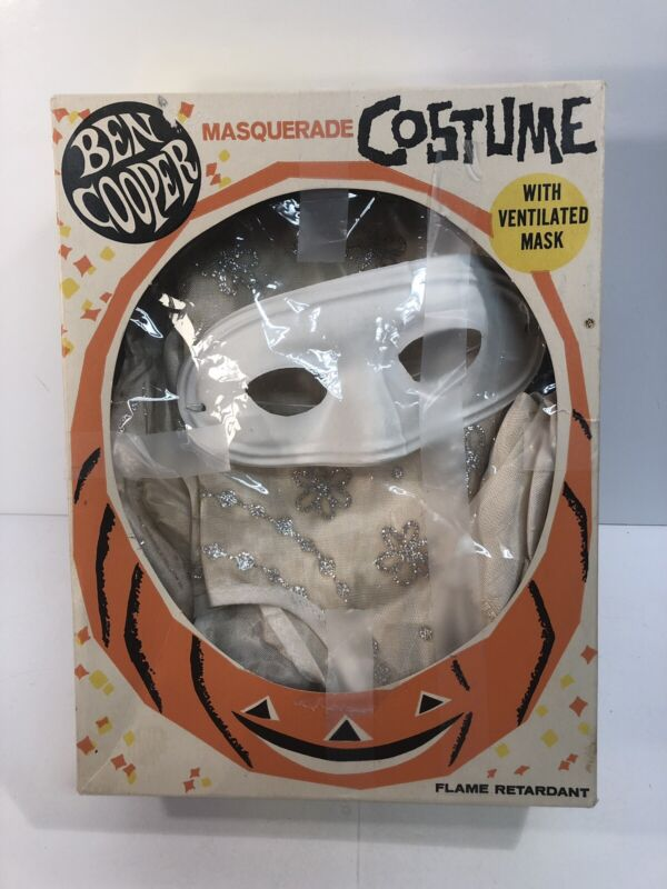 Vintage Ben Cooper Halloween Bride Costume & Original Box 1960s