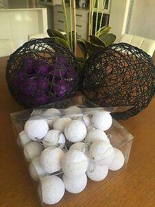 Bali Lanterns in white and purple Aubin Grove Cockburn Area Preview