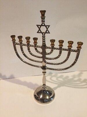 Menorah two-tone silver and gold Star of David