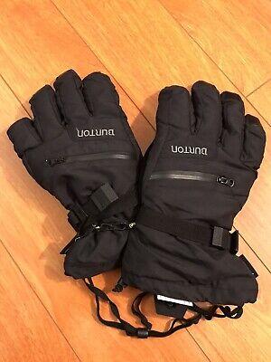 2015 Burton Gore-Tex Under Black Gloves XL Leather Purwakarta Zip Pocket Mitts Gore Tex Under Glove