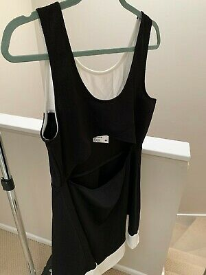 H&M Women's Dress in Black and White, Size Large NWT