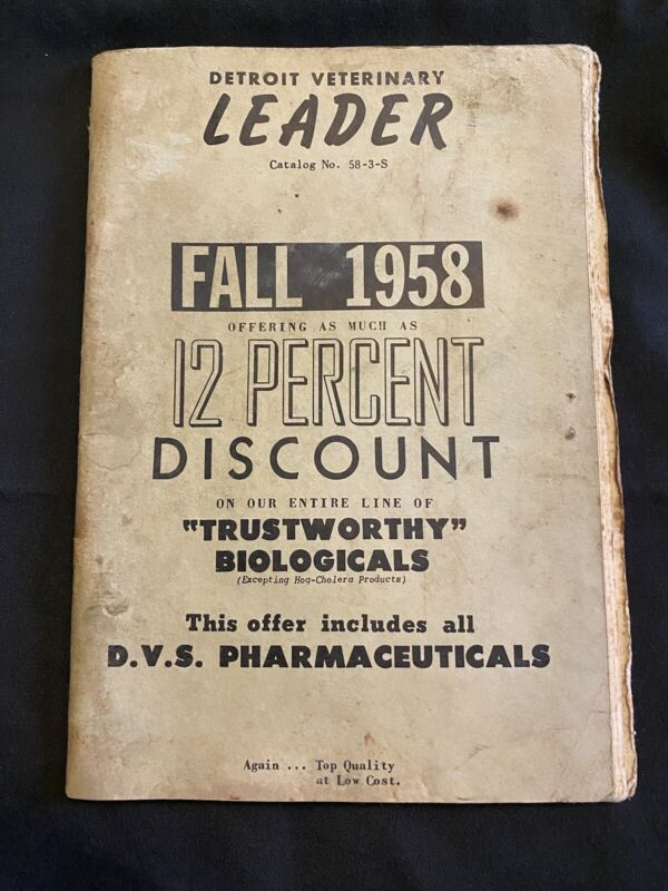 Strange 1958 Detroit Veterinary Leader Catalogue Pharmaceuticals Dogs Cows Pigs