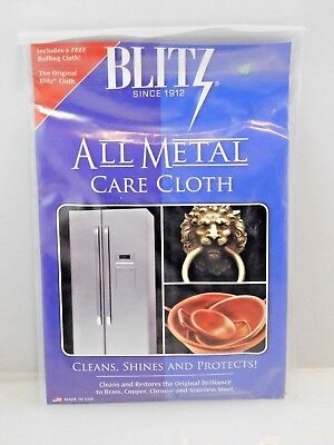 Blitz All Metal Care Cloth - for Cleaning Brass Copper Chrome & Stainless Steel