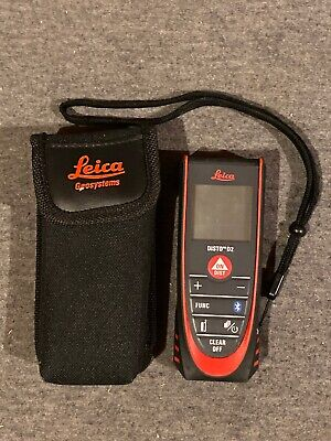 Leica Disto D2 New 330ft Laser Distance Measure With Bluetooth 4.0 Blackred