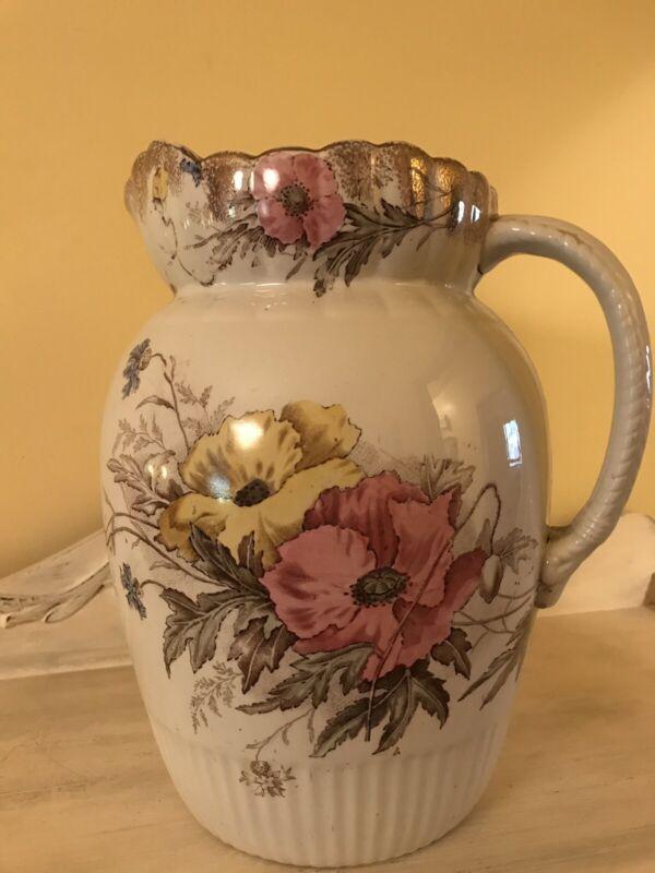 Antique Vintage Extra Large Pitcher Jug Vase