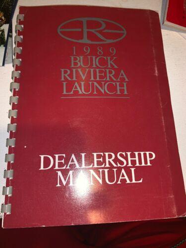 1989 Buick Riviera Launch Dealership Manual