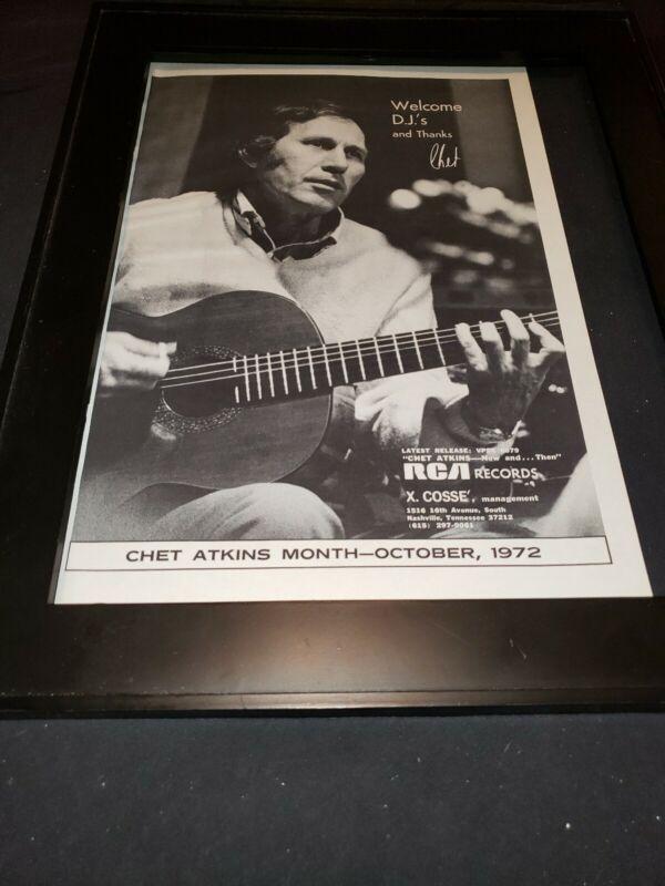 Chet Atkins Rare Original RCA Records Promo Poster Ad Framed! #3