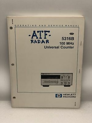 Hp 5316b 100mhz Universal Counter Operating Service Manual