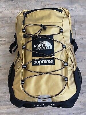 SUPREME X THE NORTH FACE TNF BOREALIS  BACKPACK BAG TRAVELLER CABIN GOLD - USED
