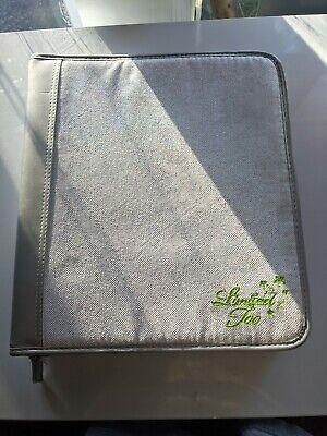 Vintage 90s Limited Too 3 Ring Binder Zipper Close. Sparkling Silver
