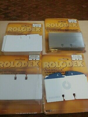Rolodex Refill Cards