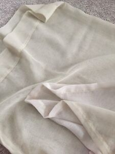 Cream sheer curtain panels for sale