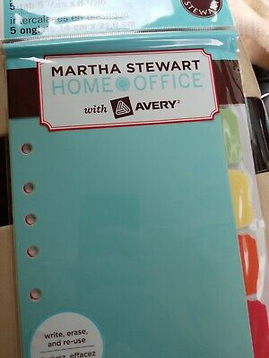Martha Stewart With Avery Home Office Plastic Dividers New