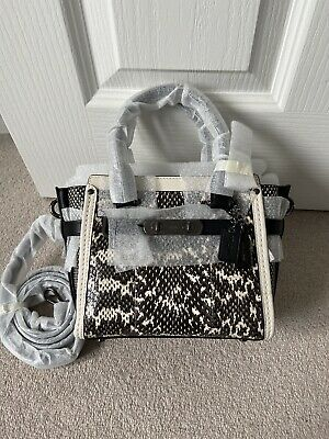 Coach Swagger Small Cross Body Snake Print Bag Brand New