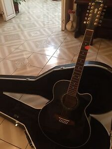 Ibanez 12 string guitar & new gator case Wetherill Park Fairfield Area Preview