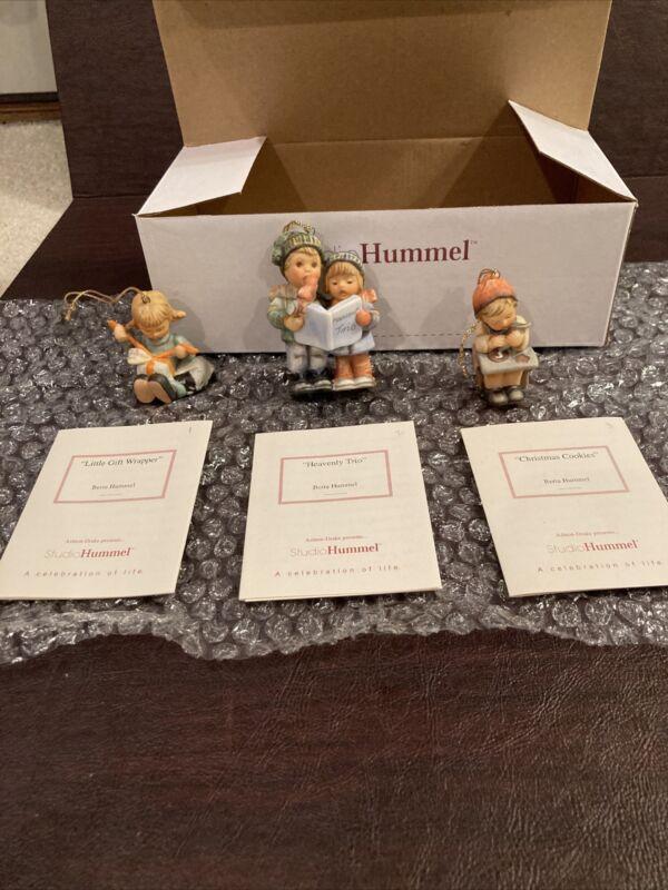 Berta Hummel Studio Hummel Ornaments - Set #1 (96031) w/COAs!!