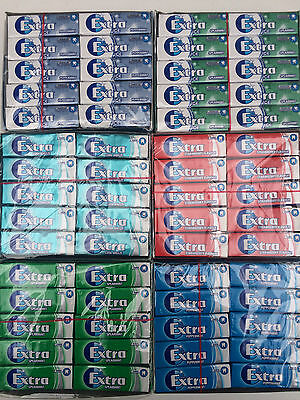 10 PACKS - Wrigleys EXTRA Chewing Gum - ICE, BREEZE, PEPPERMINT, STRAWBERRY ETC