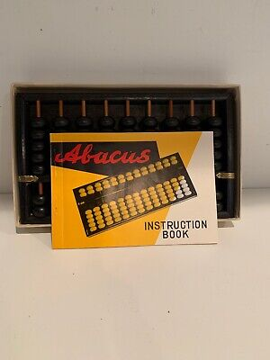 Vintage Wooden Japanese Abacus (With Instruction Book)