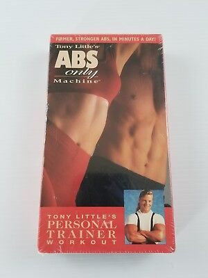 Tony Littles ABS Only Machine VHS Video Tape Exercise Workout Fitness Routine  for sale  Shipping to India