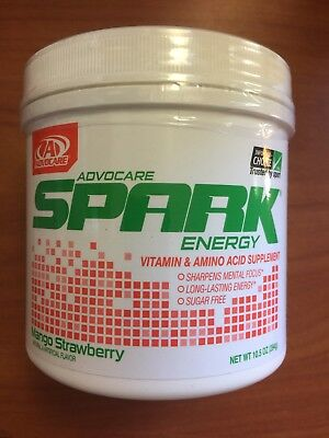 AdvoCare Whit Energy Drink mango Strawberry Canister 10.5 oz EXP 2019