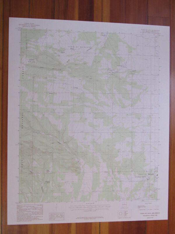 Punta De Agua New Mexico 1986 Original Vintage USGS Topo Map