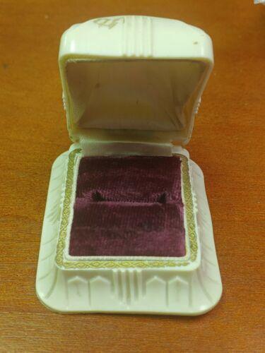 Vintage Art Deco Presentation Ring Box Case 1930s Celluloid Plastic