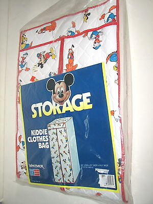VTG Disney Mickey & Friends Children's Garmet Clothes Closet Storage Bag New - Disney Children's Clothing
